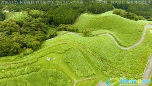 阿蘇波野 荻岳展望台 ミニラピュタの道 ドローン空撮4K写真 20160728 vol.3
