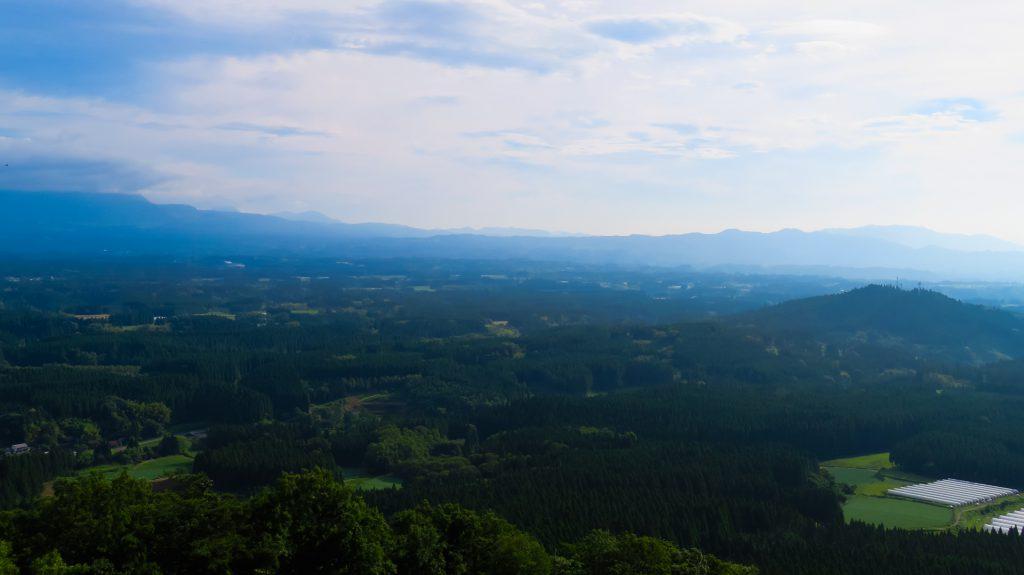 荻岳から竹田市方面を撮影2