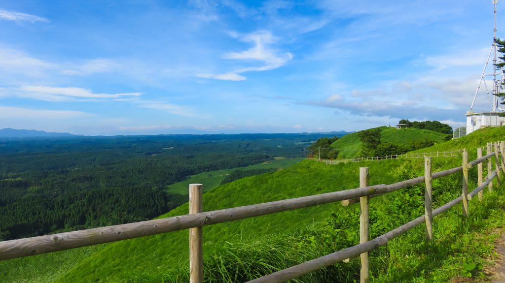 荻岳から放牧地を撮影2 熊本県阿蘇市波野(熊本県旧阿蘇郡波野村)にて撮影。