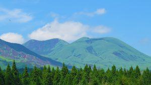 奥「杵島岳」 右手前「往生岳」