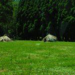 草原の草泊まり。阿蘇ビジターセンターそば