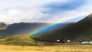 車塚1号墳に掛かるる虹の橋