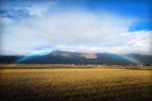 阿蘇 大観峰 に掛かるる虹の橋