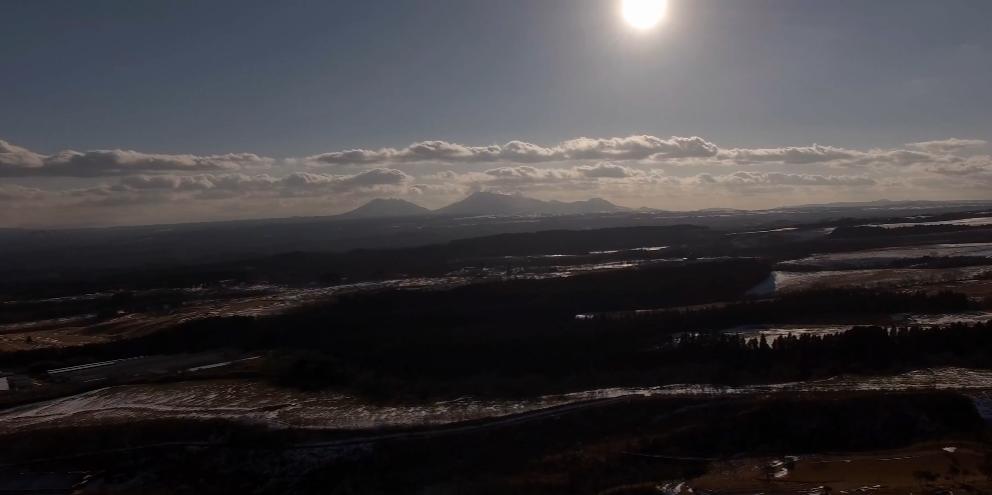 阿蘇山 久住高原からのドローン空撮(4K) 20170124 Drone video of Mt. Aso from Kuju Kogen