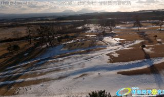 絶景 冬の久住高原から臨む 阿蘇山 ドローン空撮4K写真 20170124 vol.3