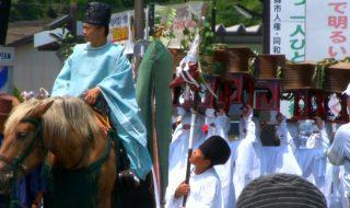 阿蘇神社の例大祭 御田祭(国重要無形民俗文化財)おんだ祭り2017