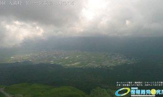雲が描いた阿蘇大観峰 ドローン撮影 (4K) 写真 Vol.9  20170705 光に照らされる内牧温泉