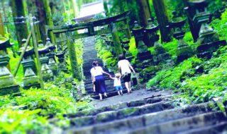 上色見熊野座神社 2018年7月9日 南阿蘇高森町 西日本豪雨後 Kami shikimi Kumano imasu shrine